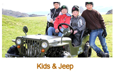 Kids and Jeep
